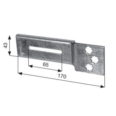 MENSOLA TORONTO per motore fori stella d. 10 mm