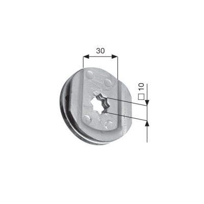 TESTINA estraibile foro a stella d. 10 innesto 30 mm